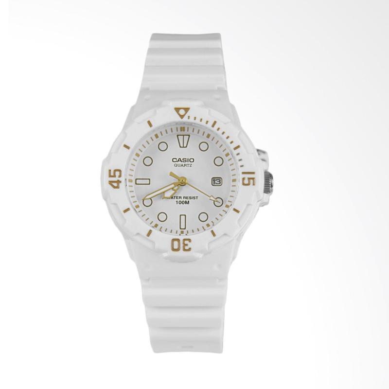 Casio Women's LRW-200H-2BVCF Stainless Steel Watch Resin Band Jam Tangan Wanita - White