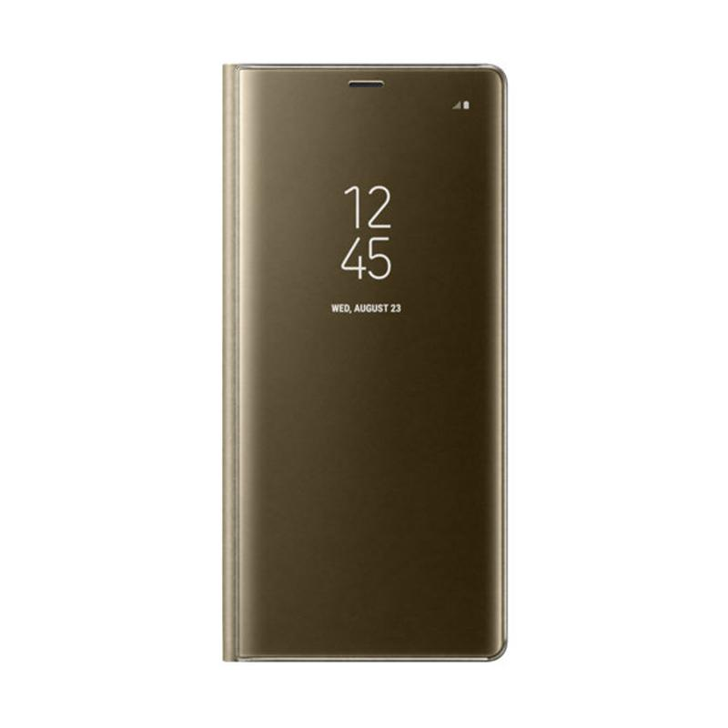 Samsung Original Clear View Standing Cover Casing for Galaxy Note 8 - Gold