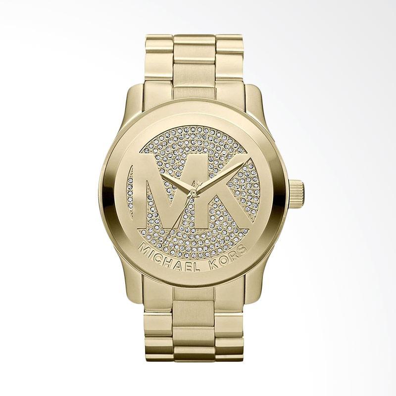 Michael Kors Women's MK5706 Runway Analog Display Quartz  Jam Tangan Wanita - Gold