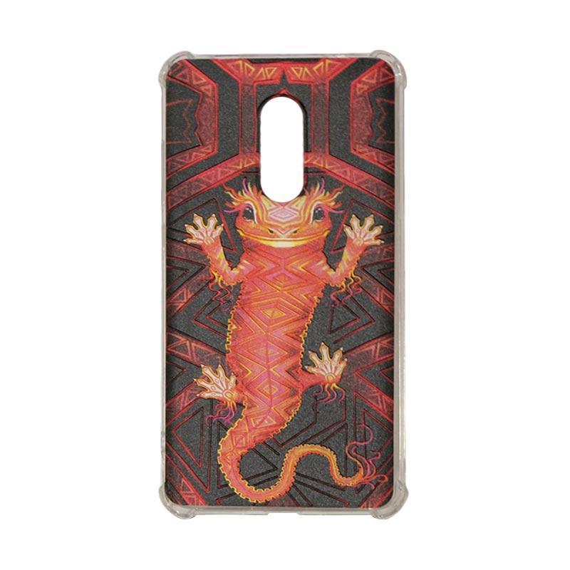 harga QCF Softcase Rimba Motif Tokek Oscar Anti Shock Anti Crack Silicone for Xiaomi Redmi Note 4 Case Jungle / Casing Gambar Blibli.com