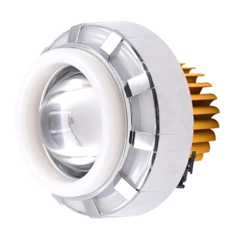 Raja Motor V05 Aksesoris Motor Lampu Depan Projector LED Bulat Seling - Merah Biru [DOH9311-BulatSeling-Putih-Biru-Merah]