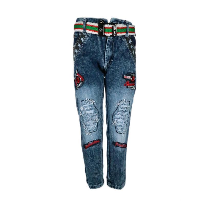Celana Panjang Jeans Sobek Anak Laki-Laki (4-5 th)