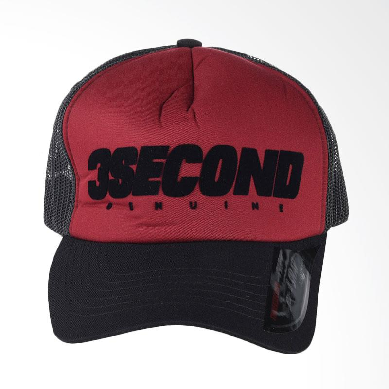 3SECOND Hat 1608 Topi Pria - Red 116081718