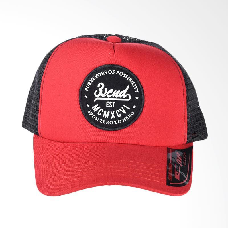 3SECOND Hat 0209 Topi Pria - Red 102091718