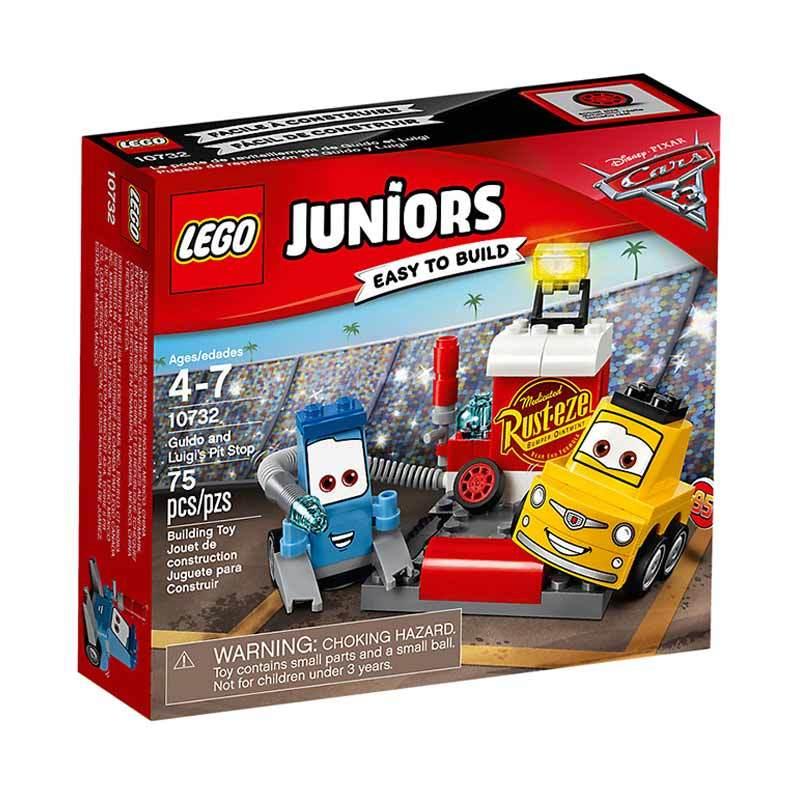LEGO Juniors 10732 Guido and Luigi's Pit Stop Mainan Anak
