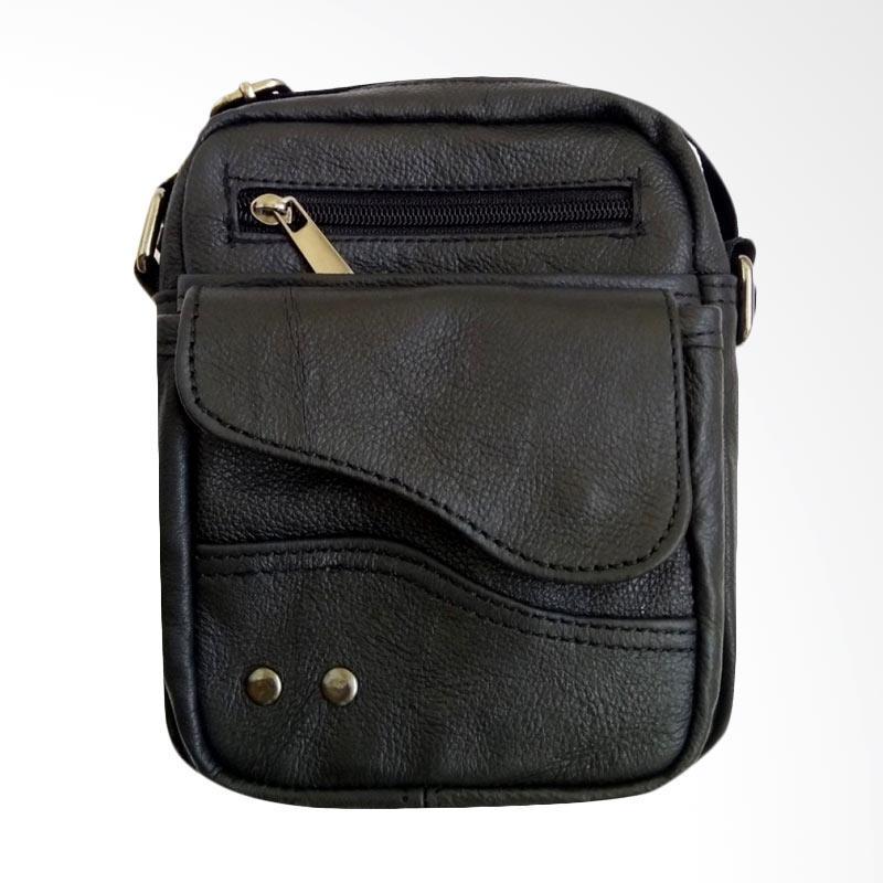 dm79 Kulit Mini Man Sling Bag - Black