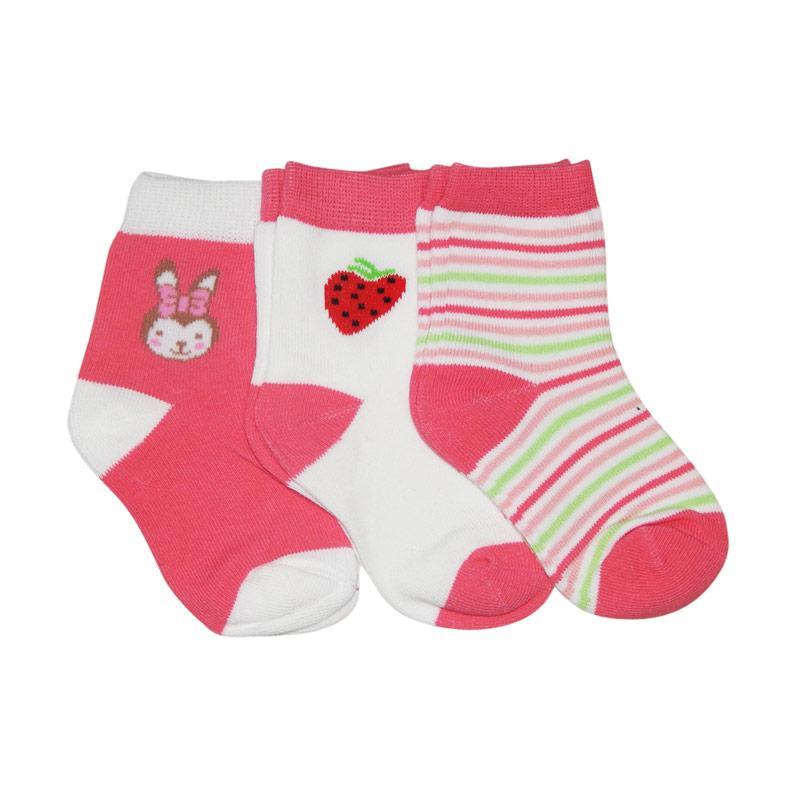 Wonderland Nemo Kids Socks - Pink [3 Pasang]