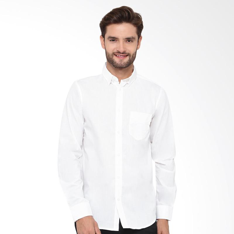 A&D Fashion Mens Shirt Long Sleeve - White Ms 942