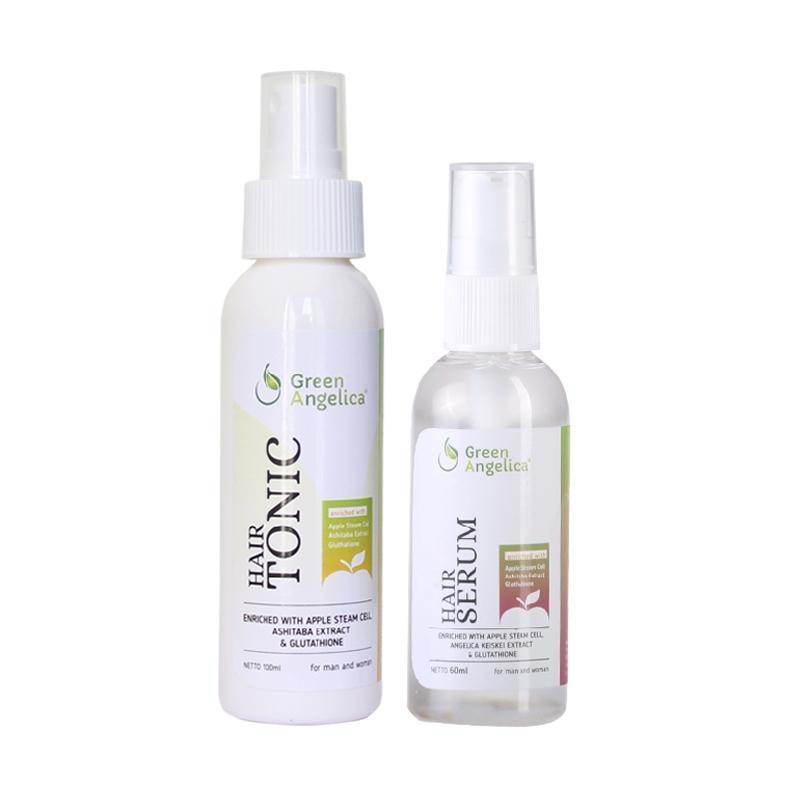 harga Green Angelica combo 1, penumbuh rambut cepat irang Indonesia, obat penumbuh rambut 100% asli, obat rambut rontok teruji BPOM dan Halal Blibli.com