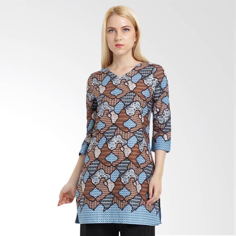 A&D Fashion MS 766 Batik Print Blouse Batik - Blue