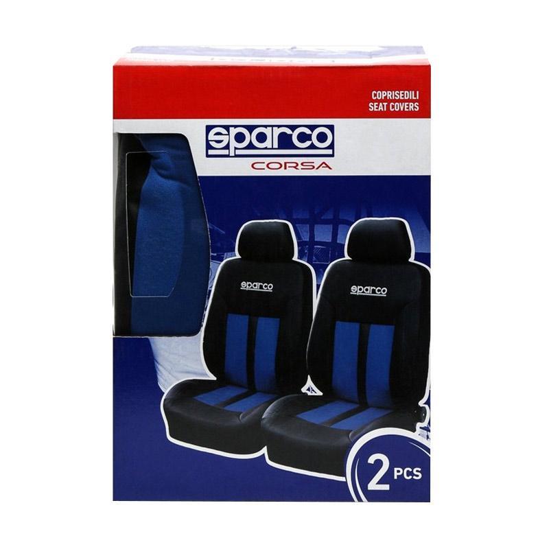 Sparco SPC1018AZ Seat Covers - Black Blue