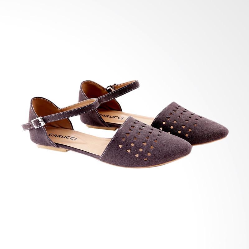 Garucci GBK 6111 Ballerina Shoes Wanita - Brown