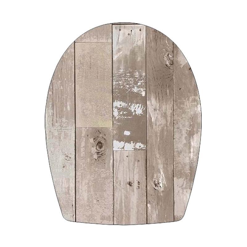Epinidithouse Shabby Toilet Seat Cover Stiker Tutup Closet Duduk - Wood Coklat