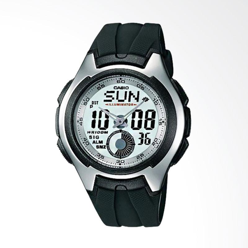 CASIO Illuminator Digital Analog Watch Jam Tangan Pria - Silver AQ-160W-7BVDF