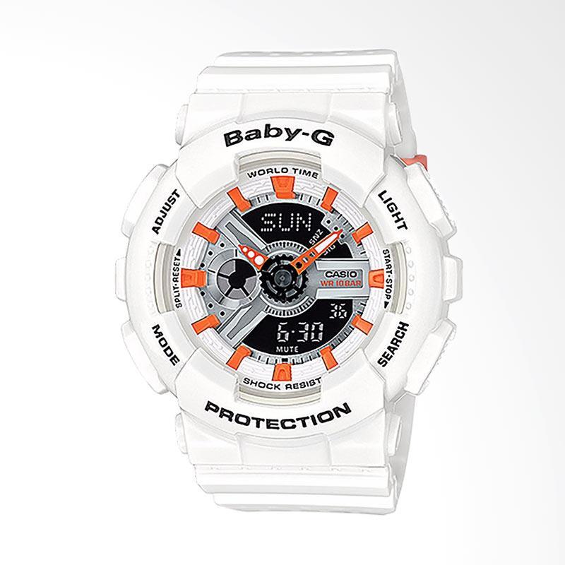 CASIO Baby-G BA-110PP-7A2DR Resin Band Jam Tangan Wanita - White