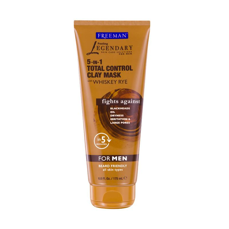 Freeman For Men 5-In-1 Total Control Clay Mask [6 oz]