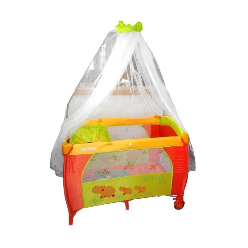 BabyDoes 171 Baby Box Tempat Tidur Bayi - Orange