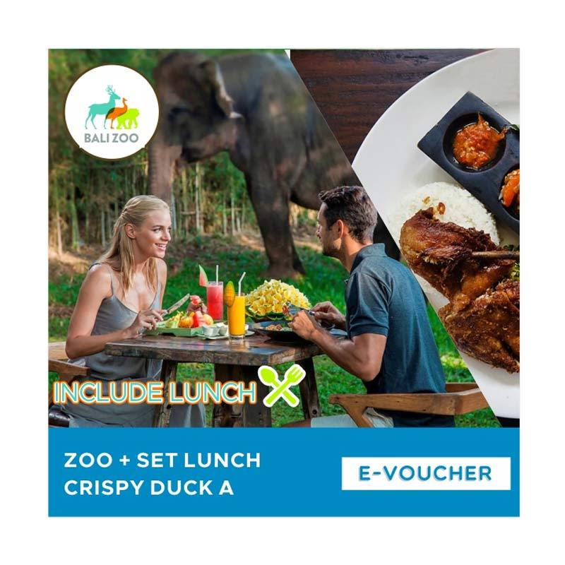 Bali Zoo Park Zoo with Set Lunch Crispy Duck A E-Voucher [Adult]