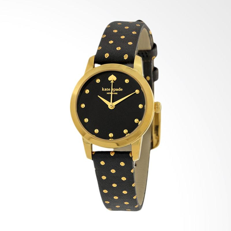 Kate Spade 1YRU0890A Mini Metro Tone Leather Strap Watch Jam Tangan Wanita - Black