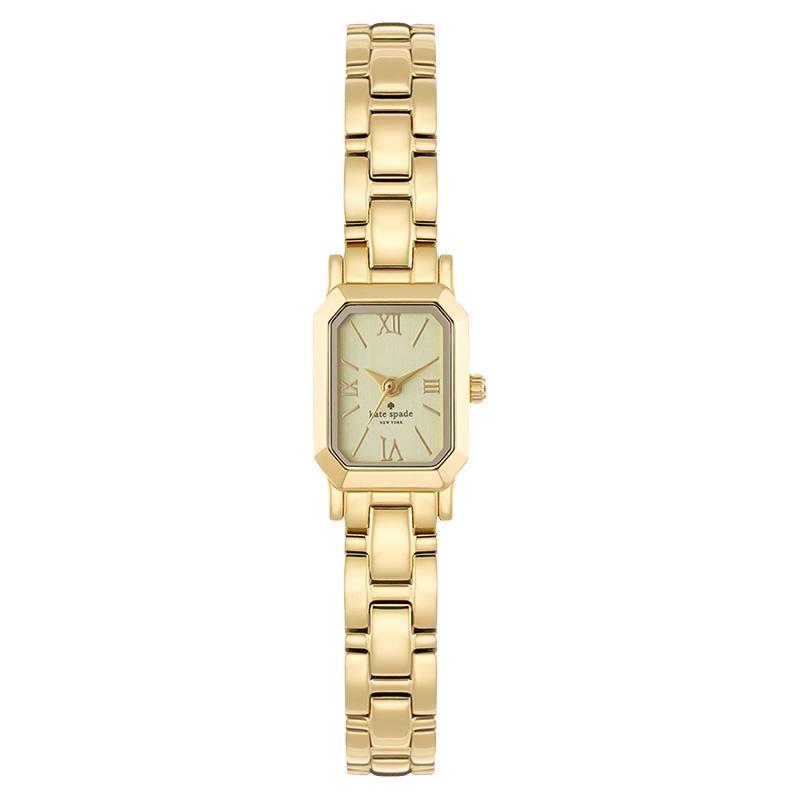 Kate Spade 1YRU0630 Tiny Hudson Stainless Steel Jam Tangan Wanita - Gold