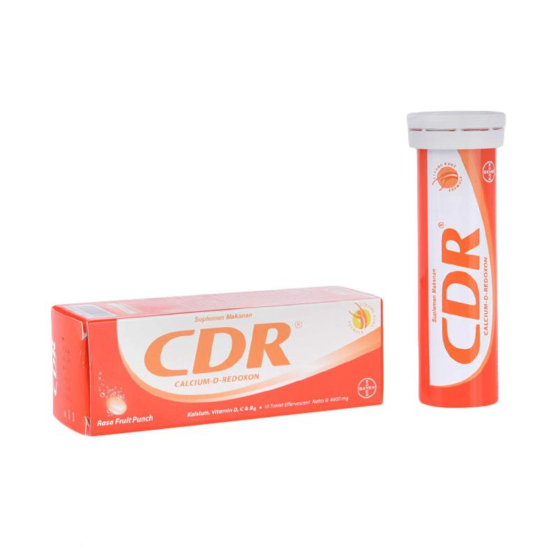 CDR Calcium D-Redoxon Rasa Fruit Punch Effervescent [10 Tabs]