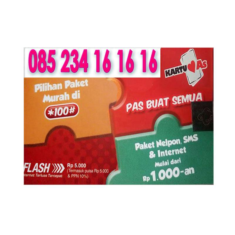 ... harga Telkomsel As Nomor Cantik 085234 161616 Kartu Perdana Blibli com