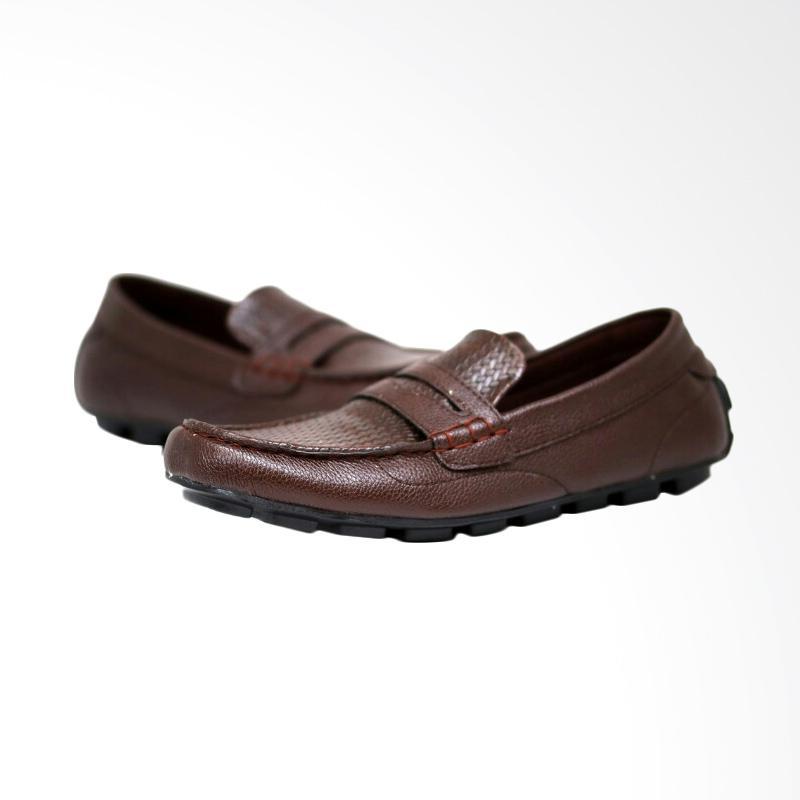 harga Frandeli Original Cocoes Balerino Casual Sepatu Pria - Brown Blibli.com