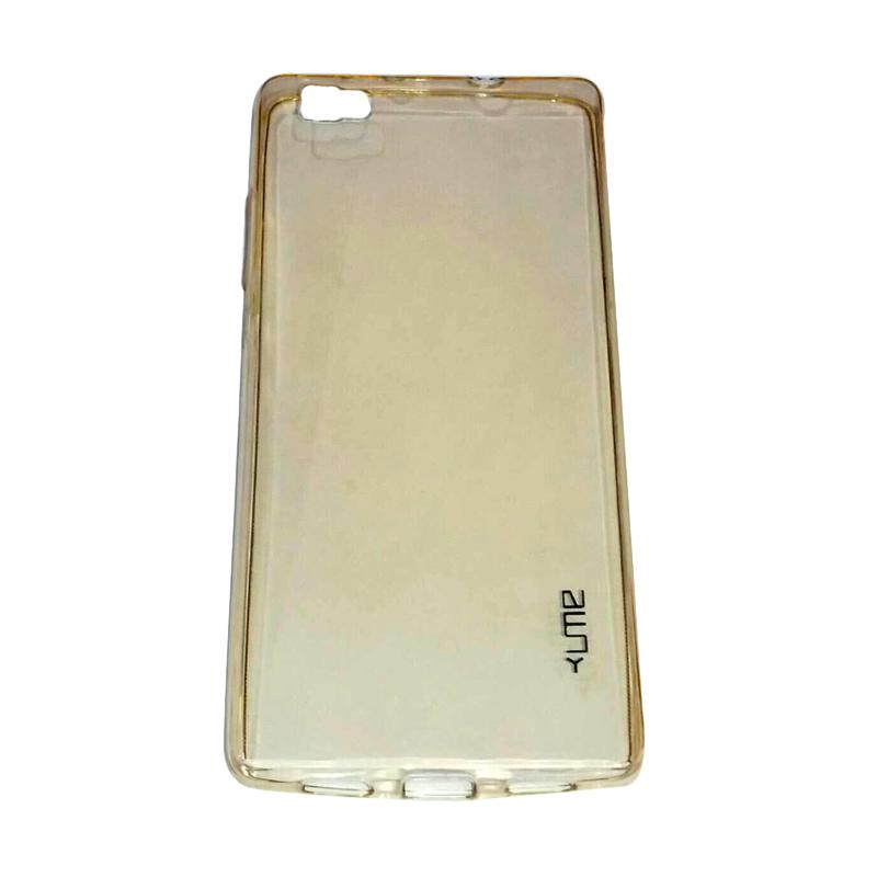 Ume Ultrathin Silicone Jellycase Softcase Casing for Huawei P8 Lite - Kuning