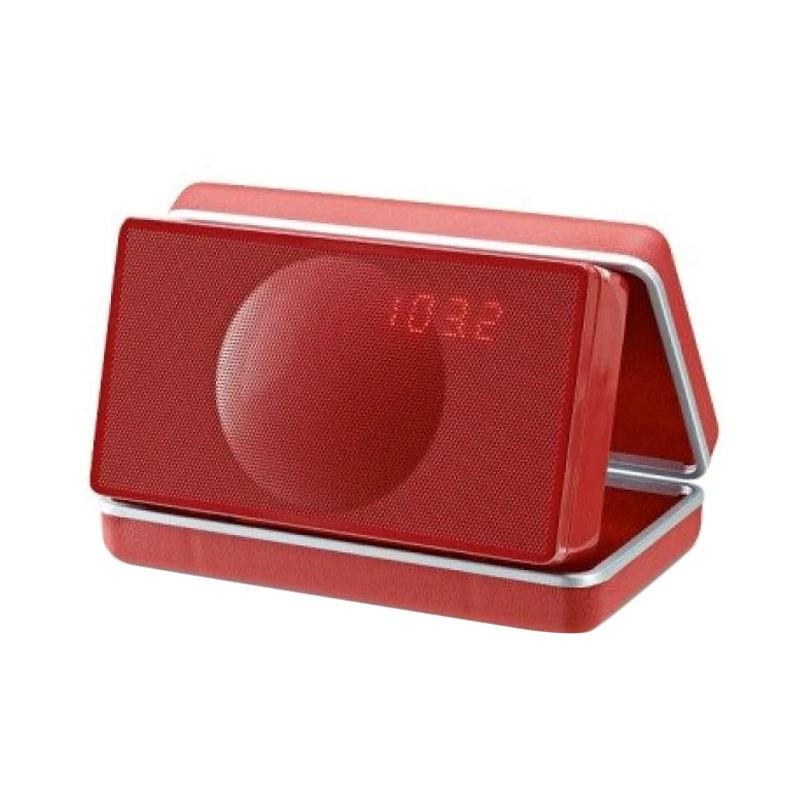 Geneva Type XS Clock Wireless Bluetooth Radio - Red