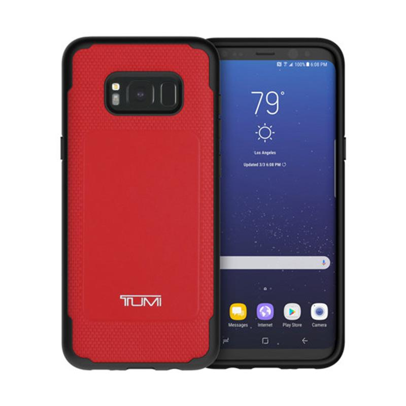 TUMI Leather CoMold Casing for Samsung Galaxy S8+ - Red