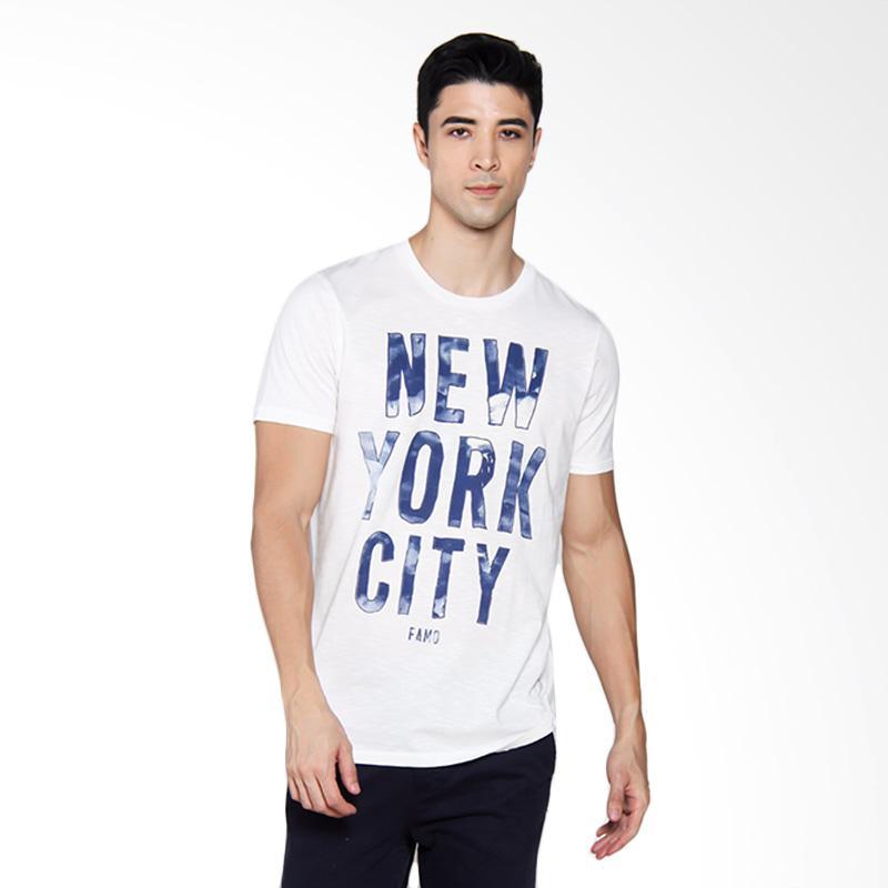 Famo 0104 T-shirt Pria - Cream [501041712]