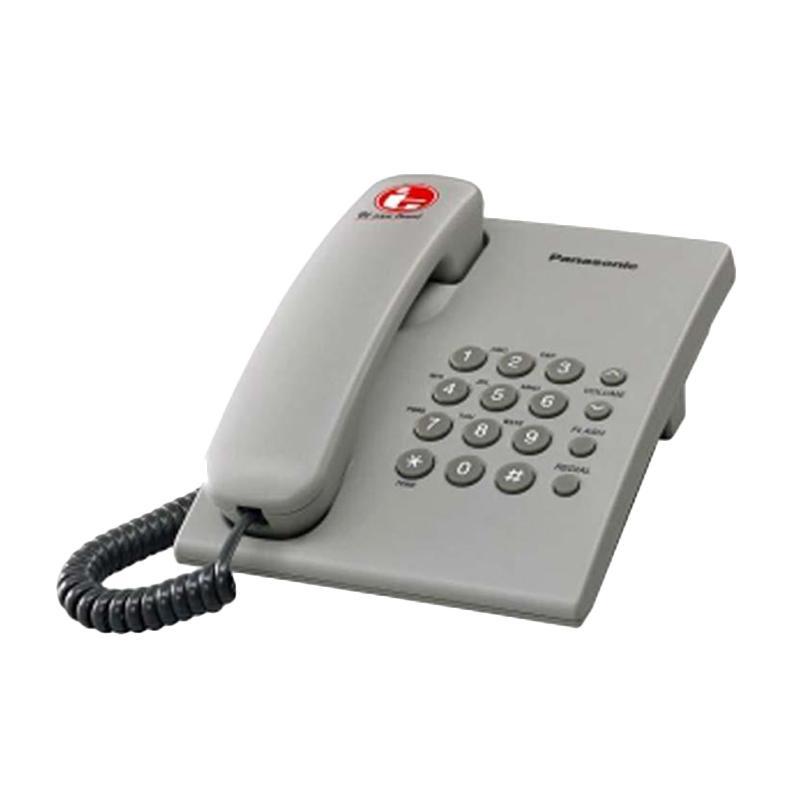 harga Telepon Kabel Panasonic KX-TS505 Single Line - Telepon Kabel Rumah Kantor - Grey Blibli.com