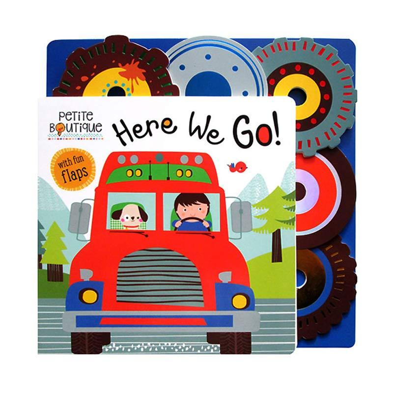 Genius Petite Boutique Here We Go! Board Book With Fun Flaps Buku Edukasi Anak