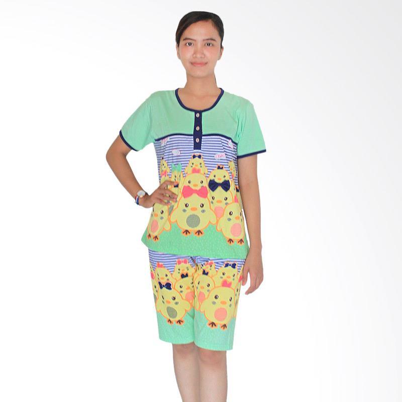 Aily 3582 Setelan Baju Tidur Wanita & Celana Pendek - Hijau