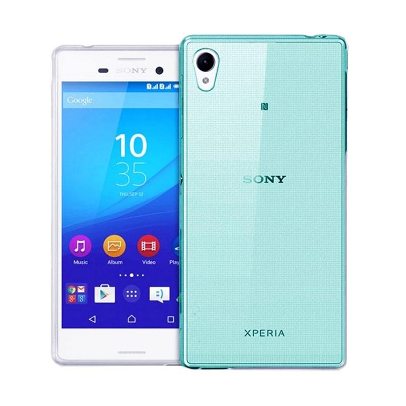 Ume Ultrathin Silicone Jelly Softcase Casing for Sony Xperia M4 Aqua - Biru