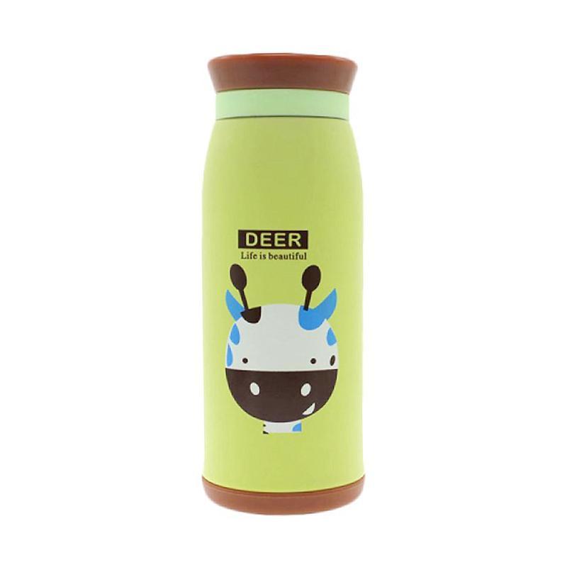 Kalno Termos Stainless Steel Karakter Deer Botol Minum - Green