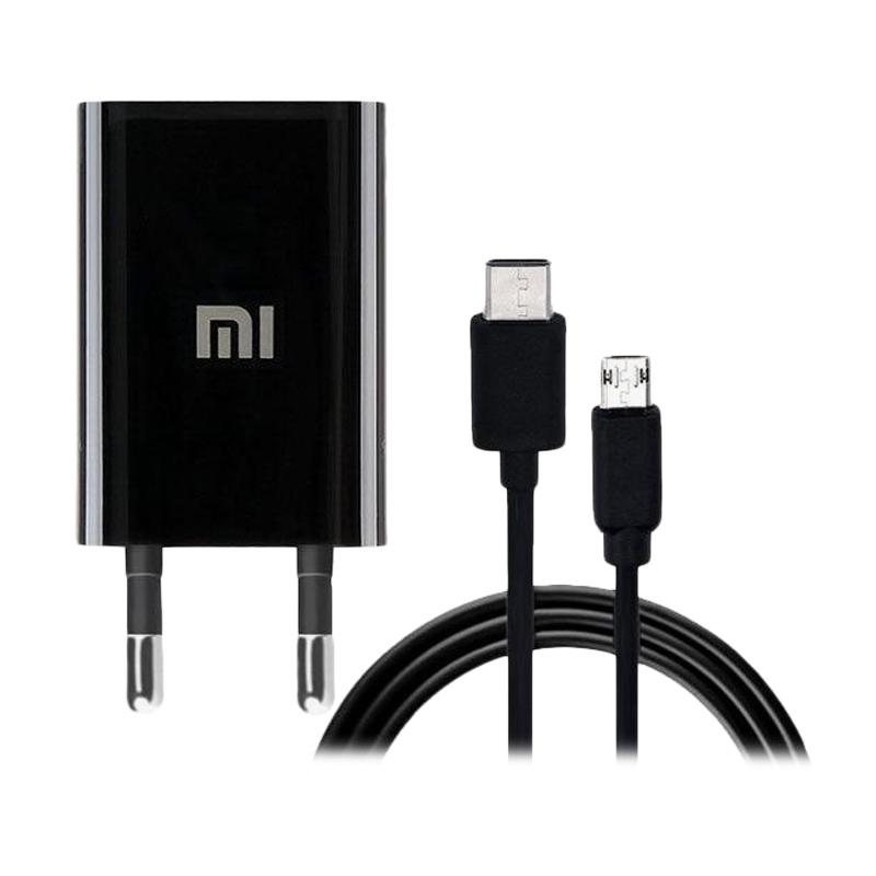 Xiaomi Type C Charger for Mi 4C or Mi 5 - Hitam [Fast Charging/2A]