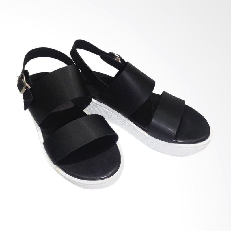 Anneliese Maudy Sepatu Wedges Wanita - Black