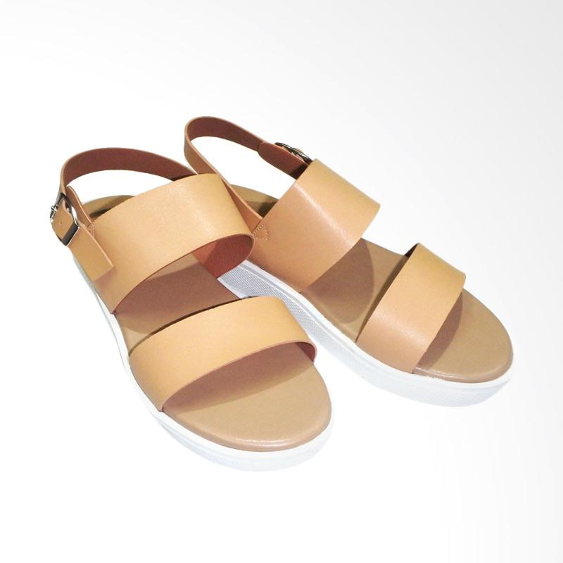 Anneliese Sepatu Wedges Wanita - Maudy Camel