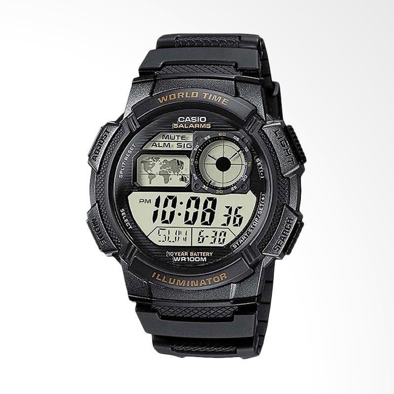 CASIO Jam Tangan Sport Pria - Black [AE1000W 1AV]