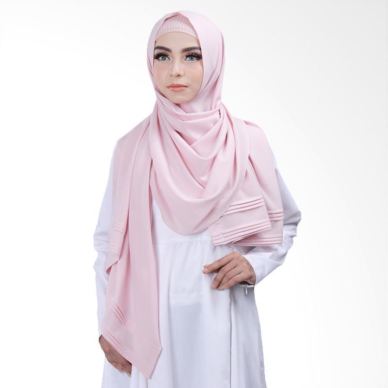 Cantik Kerudung Khloe Pleated Shawl - Soft Dusty Pink No.13