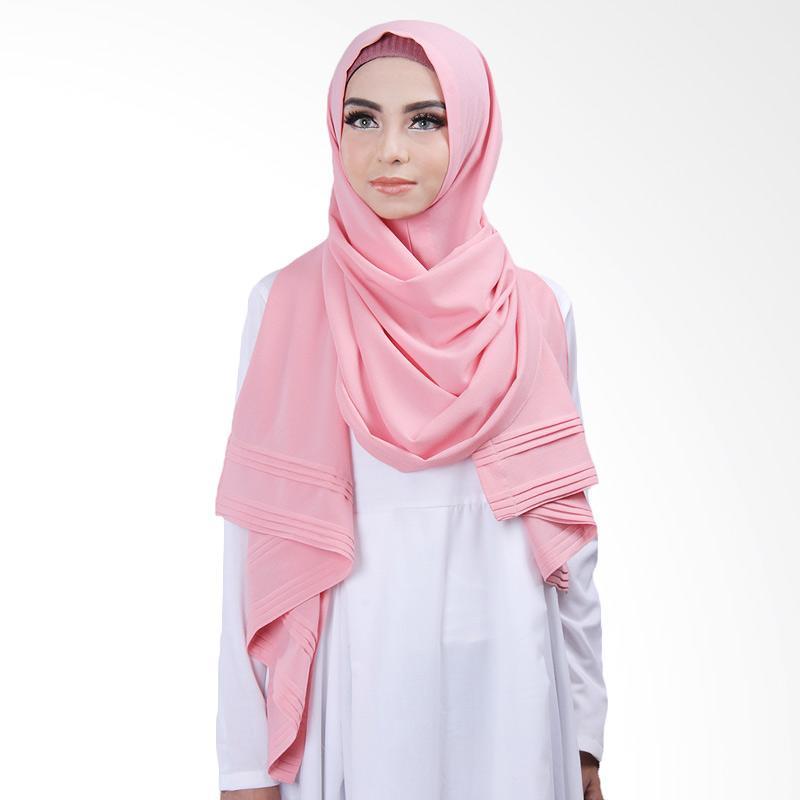 Cantik Kerudung Khloe Pleated Shawl - Dusty Pink No.14