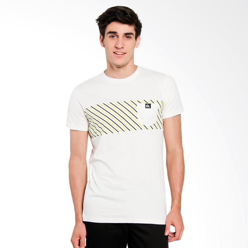 harga Quiksilver DNA M KTTP T-Shirt Pria - Snow White Solid [UQYKT03086-WBK0] Blibli.com