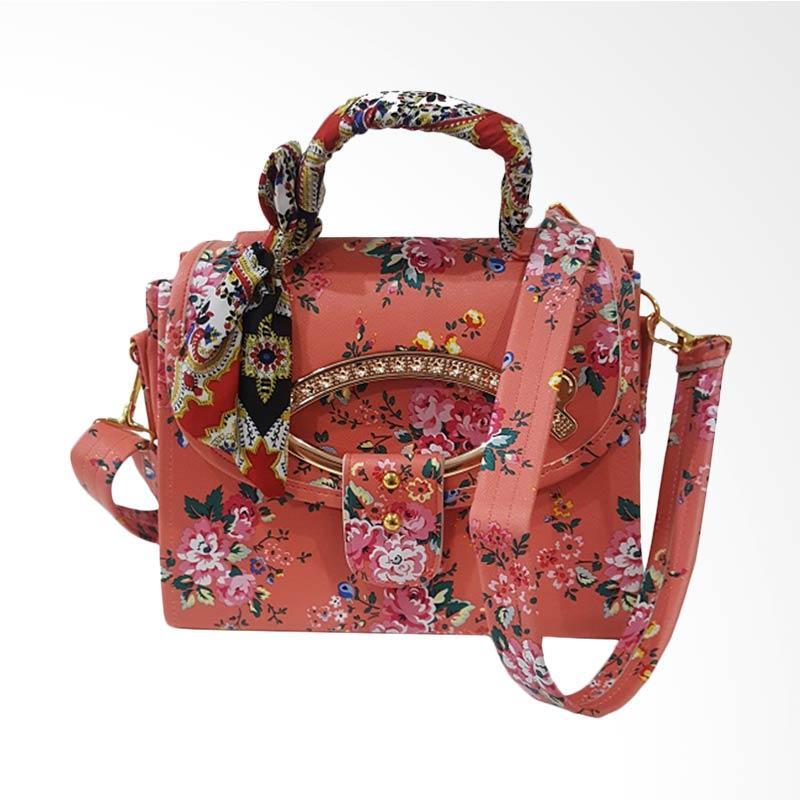 Chloebaby Shop S309 Crossbody Scarf Kanvas Bag Tas Selempang Wanita - Orange