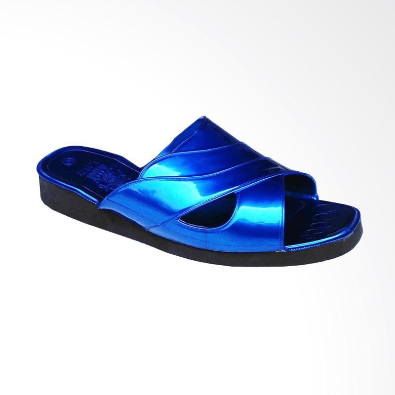 HQo Lily Slop Lili Si Pitung Klasik Sandal Pria - Biru