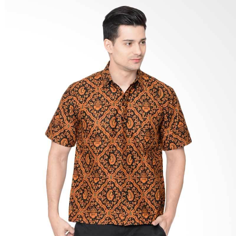 Jening Batik Kemeja Atasan Pria - Brown [HR-052]
