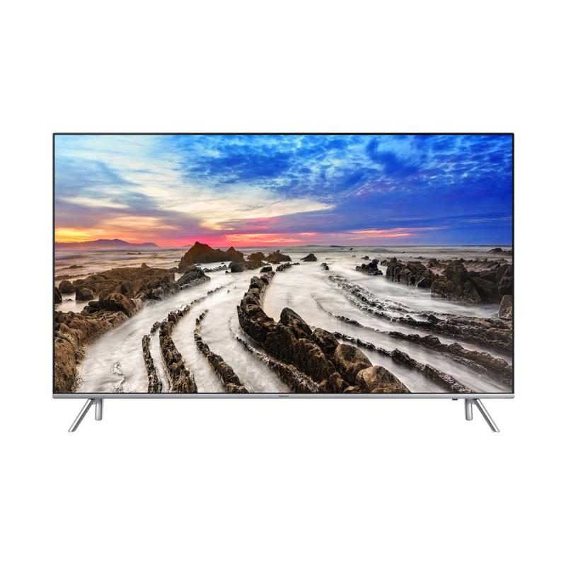 Samsung UA55MU7000KPXD Premium UHD 4K Smart TV - Silver [55 Inch] + Free Samsung Galaxy A5