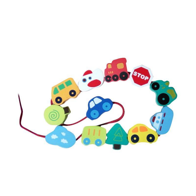 Atham Toys Ronche Transportasi Mainan Kayu Edukatif