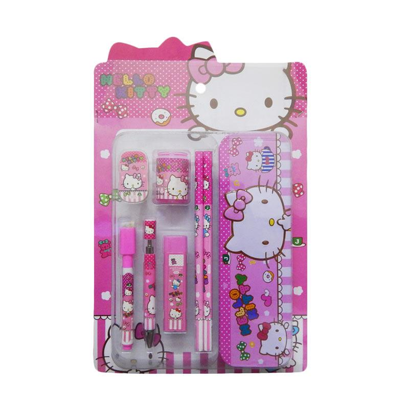 Wonderland Karakter Hello Kitty Stationery Set Alat Tulis
