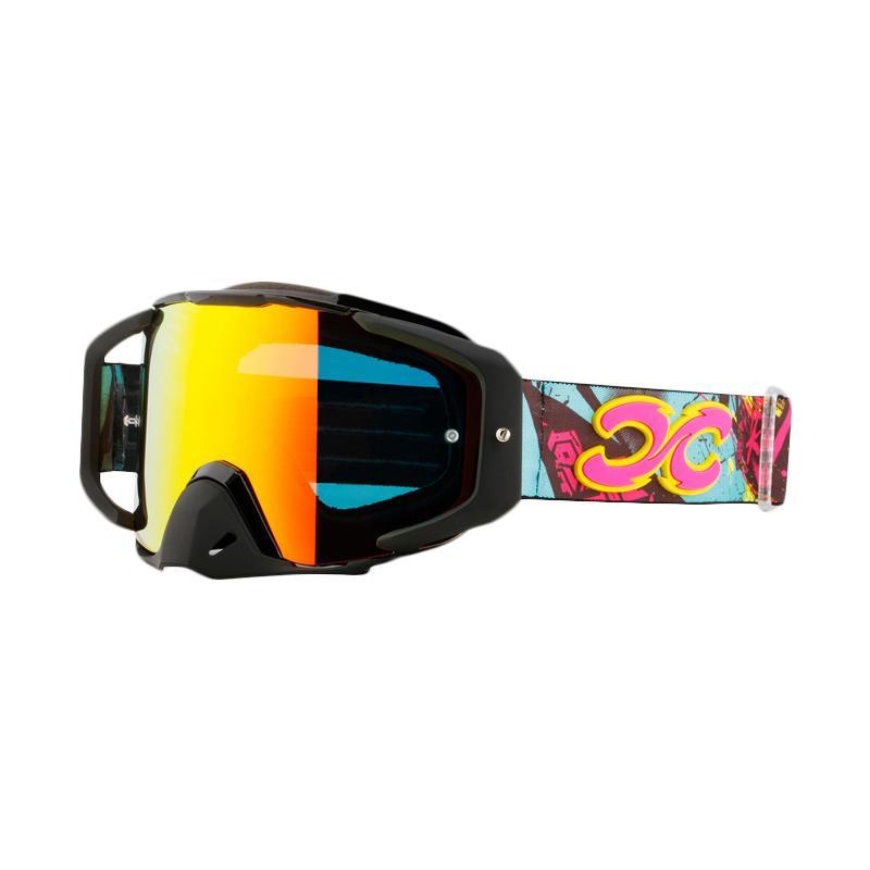 Xforce® Assassin Moto Cross Goggle - Bright Black